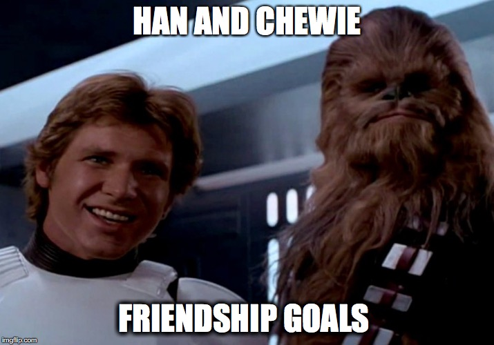 chewbacca and han solo relationship goals meme