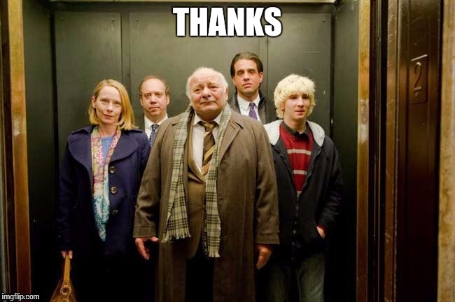 Elevator | THANKS | image tagged in elevator | made w/ Imgflip meme maker