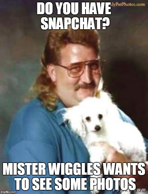 creeper | DO YOU HAVE SNAPCHAT? MISTER WIGGLES WANTS TO SEE SOME PHOTOS | image tagged in creeper | made w/ Imgflip meme maker
