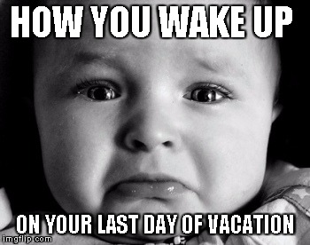 Image result for last day of vacation meme