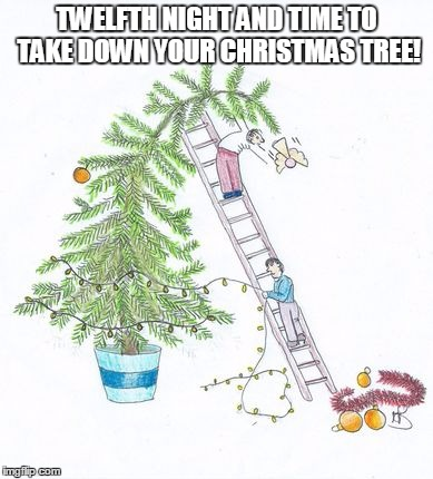 twelfth night and time to take down your christmas tree image tagged in twelfth - When Do You Take Down Your Christmas Tree