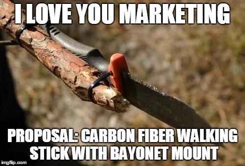 wuv8p product proposal carbon fiber staff w bayonet mount meme,Bayonet Meme