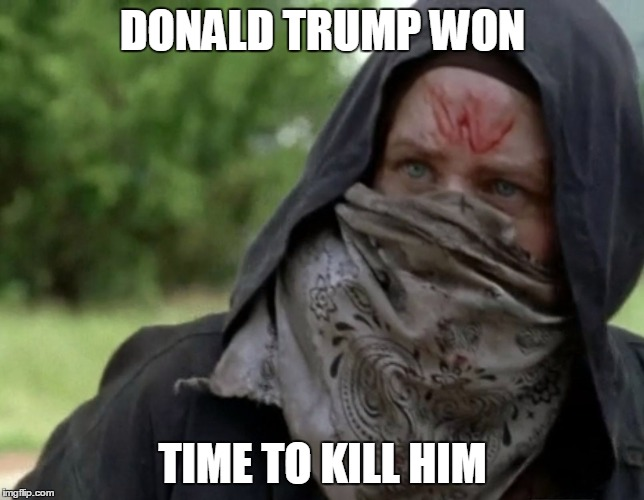 TWD Assassins Creed DLC | DONALD TRUMP WON TIME TO KILL HIM | image tagged in twd assassins creed dlc | made w/ Imgflip meme maker