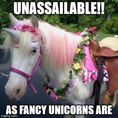 UNASSAILABLE!! AS FANCY UNICORNS ARE | image tagged in unicorns,fancy,tough | made w/ Imgflip meme maker