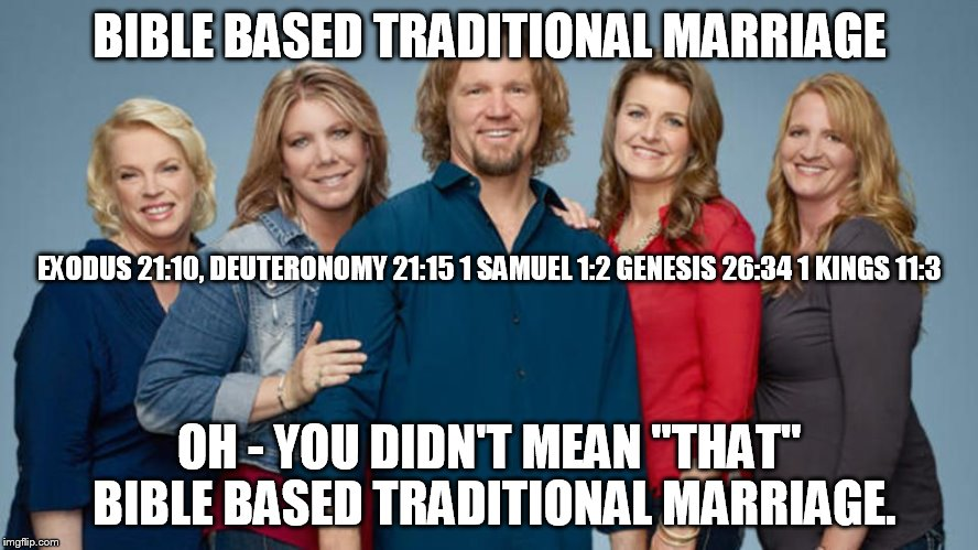 "BIBLE BASED TRADITIONAL MARRIAGE OH - YOU DIDN'T MEAN ""THAT"" BIBLE BASED TRADITIONAL MARRIAGE. EXODUS 21:10, DEUTERONOMY 21:15 1 SAMUEL 1:2  