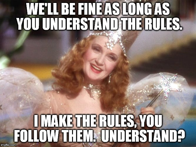 x252z good witch wizard of oz neoliberalism meme meme generator imgflip