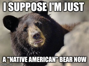 "I SUPPOSE I'M JUST A ""NATIVE AMERICAN"" BEAR NOW 