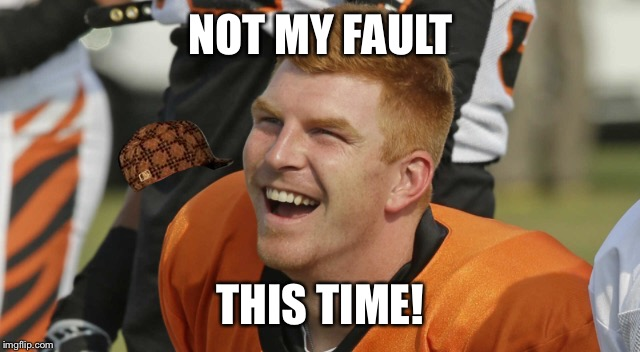 NOT MY FAULT THIS TIME! | image tagged in dalton,bengals | made w/ Imgflip meme maker