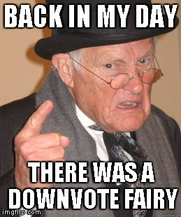 Back In My Day Meme | BACK IN MY DAY THERE WAS A DOWNVOTE FAIRY | image tagged in memes,back in my day | made w/ Imgflip meme maker