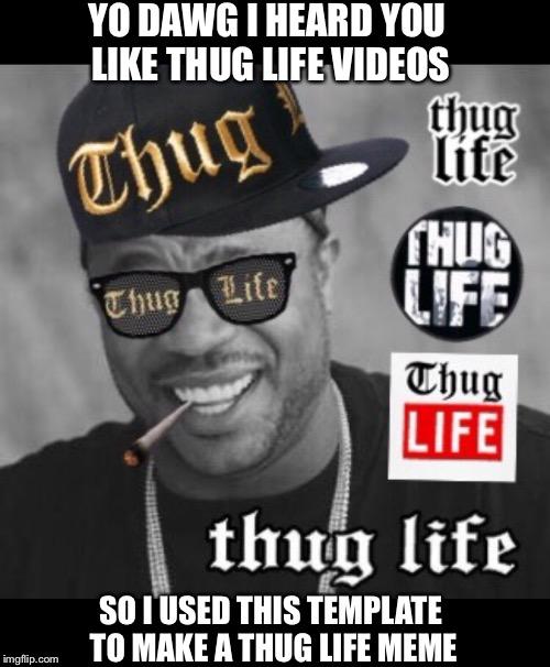 Image Tagged In Thug Lifexhibityo Dawg Heard Youtemplatememe
