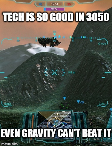 TECH IS SO GOOD IN 3050 EVEN GRAVITY CAN'T BEAT IT | made w/ Imgflip meme maker