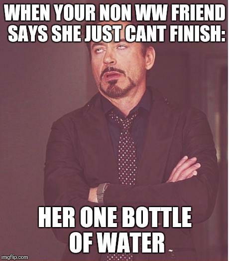 Water Bottle Neck Meme: Face You Make Robert Downey Jr Meme