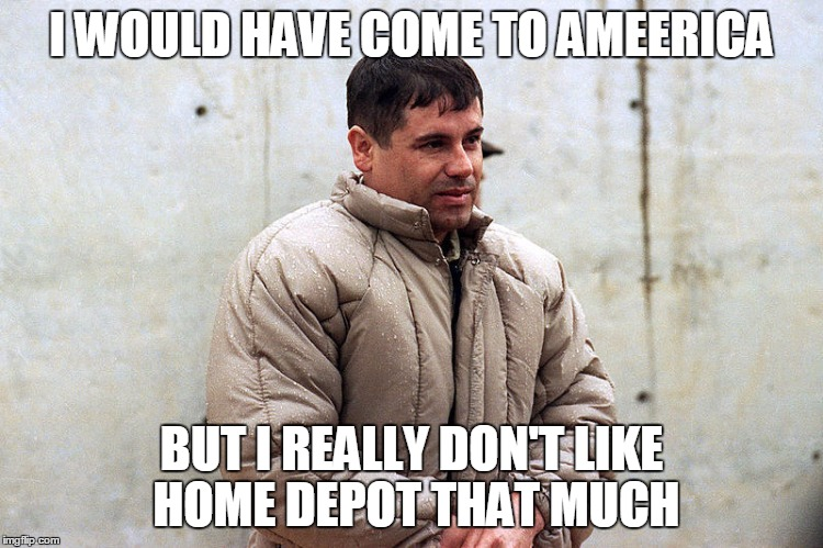 I WOULD HAVE COME TO AMEERICA BUT I REALLY DON'T LIKE HOME DEPOT THAT MUCH | made w/ Imgflip meme maker