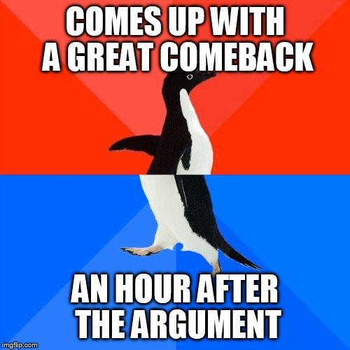 Socially awkward awesome penguin meme removed