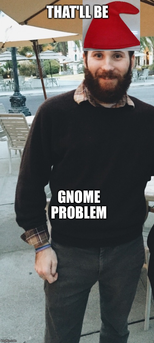 THAT'LL BE; GNOME PROBLEM | image tagged in gnome,funny | made w/ Imgflip meme maker