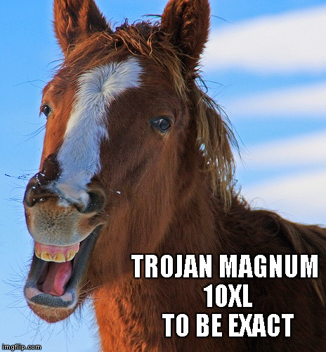 TROJAN MAGNUM 10XL TO BE EXACT | made w/ Imgflip meme maker