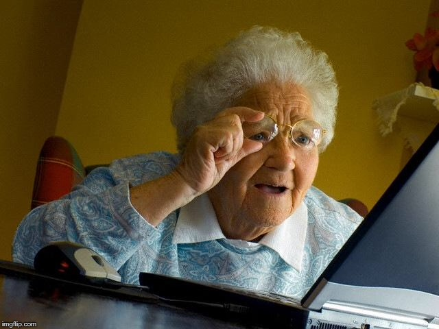 Grandma Finds The Internet Meme | . | image tagged in memes,grandma finds the internet | made w/ Imgflip meme maker