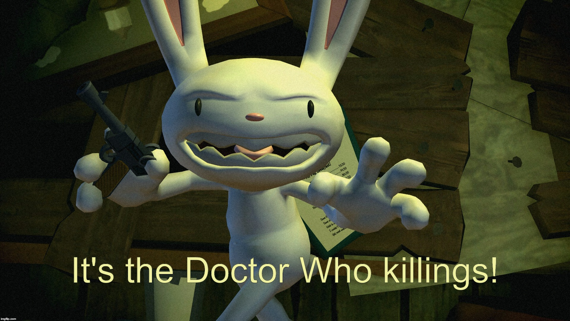 It's the Doctor Who killings! | It's the Doctor Who killings! | image tagged in sam,max,doctor,who,killings,healers | made w/ Imgflip meme maker