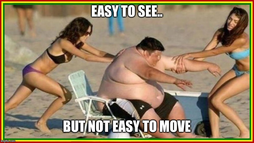 EASY TO SEE.. BUT NOT EASY TO MOVE | made w/ Imgflip meme maker