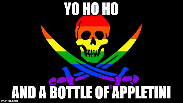 YO HO HO AND A BOTTLE OF APPLETINI | image tagged in jolly_roger | made w/ Imgflip meme maker