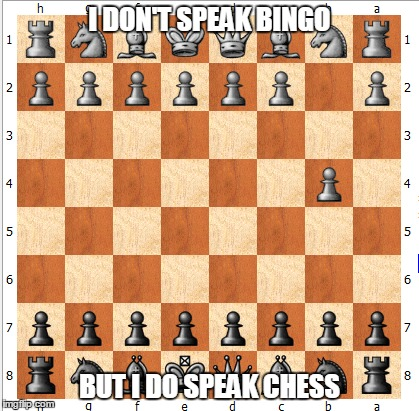 I DON'T SPEAK BINGO BUT I DO SPEAK CHESS | made w/ Imgflip meme maker