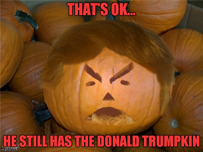 THAT'S OK... HE STILL HAS THE DONALD TRUMPKIN | made w/ Imgflip meme maker