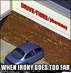 Image Tagged In Drive Thru Funny Car Crash Car Irony Memes Imgflip