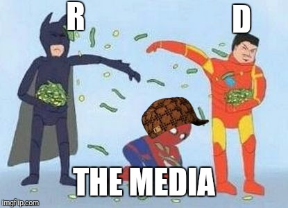 Media coverage | R THE MEDIA D | image tagged in pathetic spidey,scumbag,media,funny | made w/ Imgflip meme maker