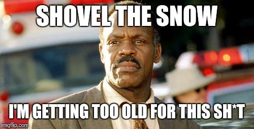 Lethal Weapon Danny Glover | SHOVEL THE SNOW I'M GETTING TOO OLD FOR THIS SH*T | image tagged in memes,lethal weapon danny glover | made w/ Imgflip meme maker