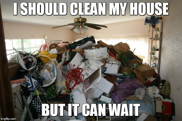 I SHOULD CLEAN MY HOUSE BUT IT CAN WAIT | made w/ Imgflip meme maker