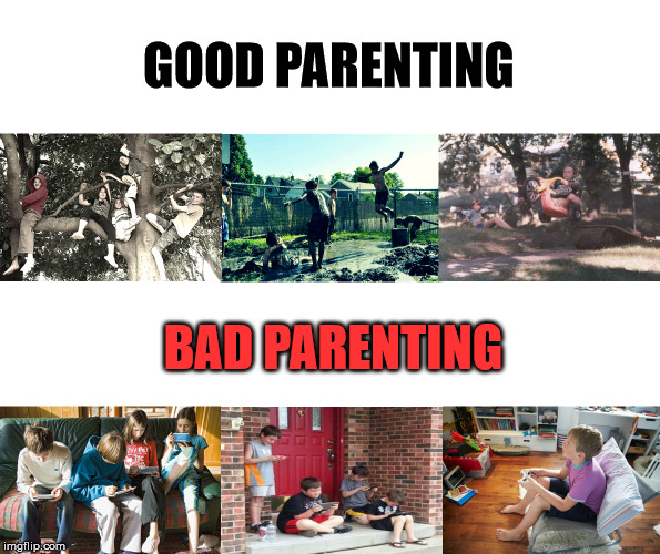 Kids playing |  GOOD PARENTING; BAD PARENTING | image tagged in kids playing | made w/ Imgflip meme maker