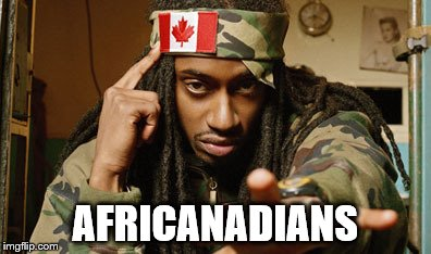 They're not all Canucks, you know | AFRICANADIANS | image tagged in memes,canada,rap | made w/ Imgflip meme maker