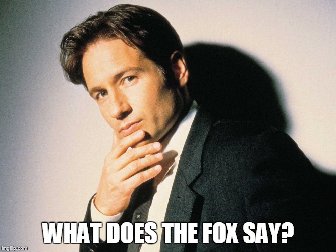 The X-Files is back! |  WHAT DOES THE FOX SAY? | image tagged in memes,x-files | made w/ Imgflip meme maker