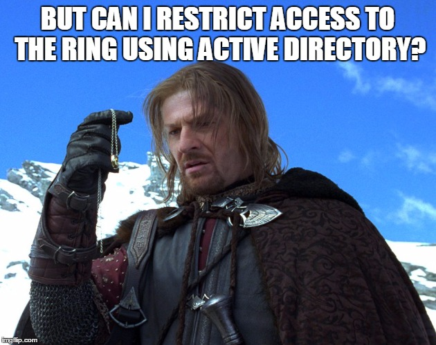 Boromir from The Lord of Ring on Active Directory - Imgflip