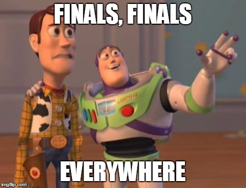 X, X Everywhere Meme | FINALS, FINALS EVERYWHERE | image tagged in memes,x,x everywhere,x x everywhere | made w/ Imgflip meme maker