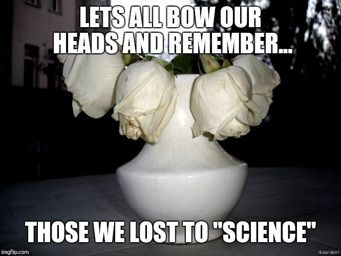 "LETS ALL BOW OUR HEADS AND REMEMBER... THOSE WE LOST TO ""SCIENCE"" 