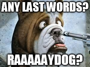 ANY LAST WORDS? RAAAAAYDOG? | made w/ Imgflip meme maker