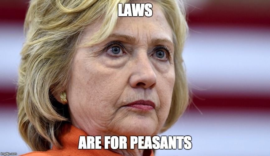 Hillary Clinton Bags | LAWS ARE FOR PEASANTS | image tagged in hillary clinton bags | made w/ Imgflip meme maker