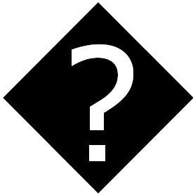 Question Mark In A Black Diamond Meme Template