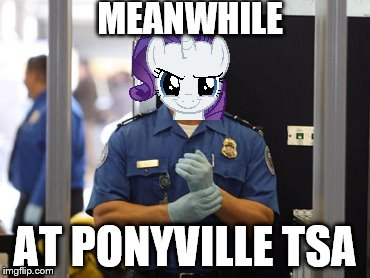 Bend Over | MEANWHILE AT PONYVILLE TSA | image tagged in my little pony,bend over,rarity | made w/ Imgflip meme maker