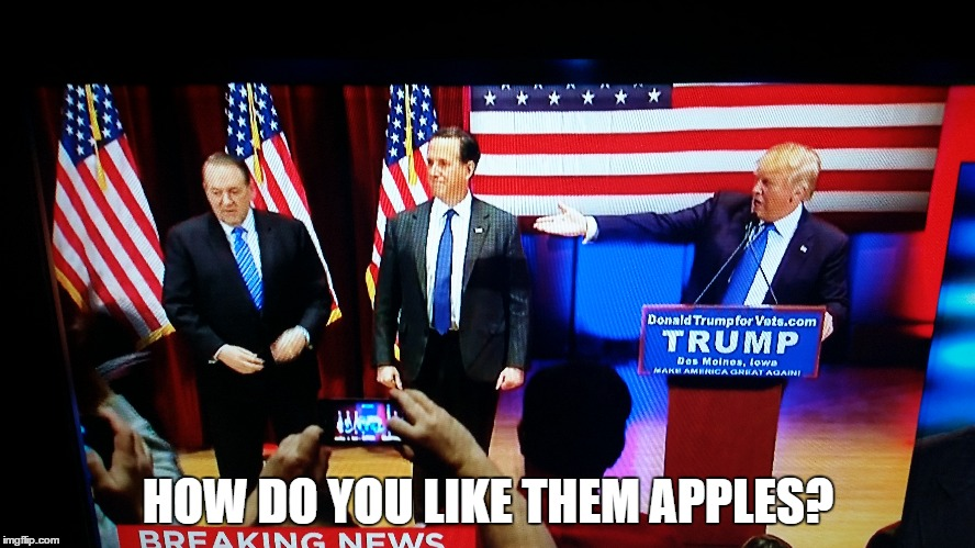 Image Tagged In Donald Trump Mike Huckabee Rick Santorum Imgflip