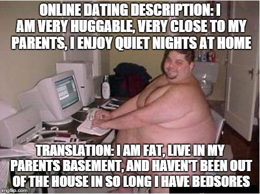 Fat girl online dating