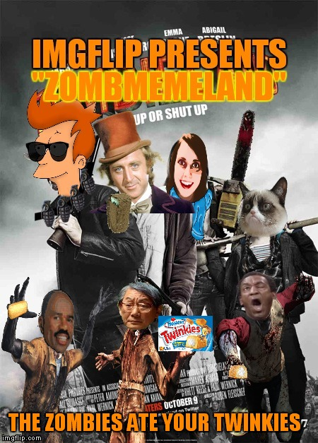 Grumpy cat really hates zombies! | THE ZOMBIES ATE YOUR TWINKIES | image tagged in zombies,memes | made w/ Imgflip meme maker