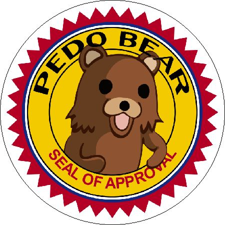 High Quality Pedo Bear Seal Of Approval Blank Meme Template