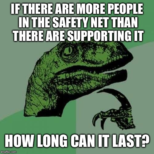 "Also described as ""more people riding the wagon than there are pulling it "" 