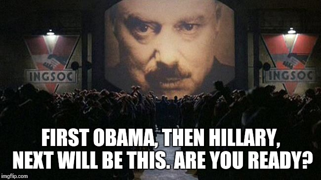 """He who controls the past controls the future. He who controls the present controls the past."" 