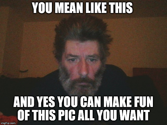 YOU MEAN LIKE THIS AND YES YOU CAN MAKE FUN OF THIS PIC ALL YOU WANT | made w/ Imgflip meme maker
