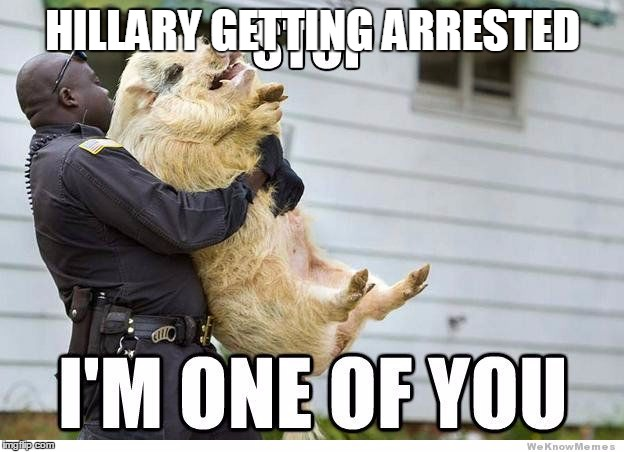 HILLARY GETTING ARRESTED | made w/ Imgflip meme maker