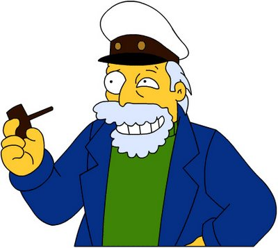High Quality Simpsons sea captain Blank Meme Template