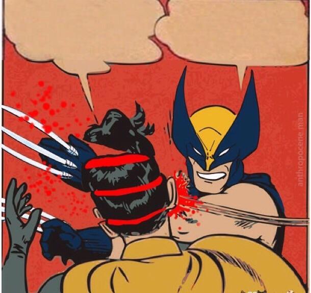 Wolverine Killing Robin Meme Generator Imgflip